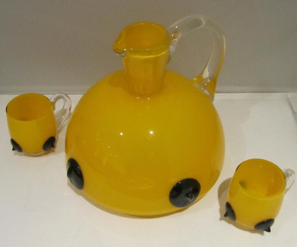 Yellow cased glass with prunts - is it Loetz Tango glass? Img_8111