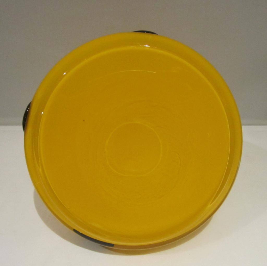 Yellow cased glass with prunts - is it Loetz Tango glass? Img_8112