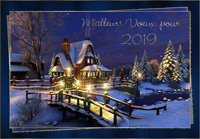 Pour la nouvelle Année 2019 N° 2 Carte_20