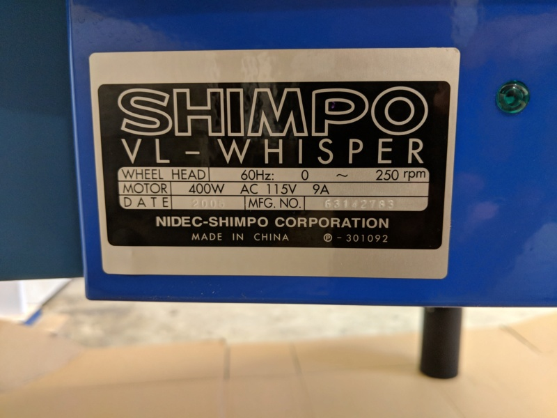 SHIMPO wheel US voltage to NZ Img_2010