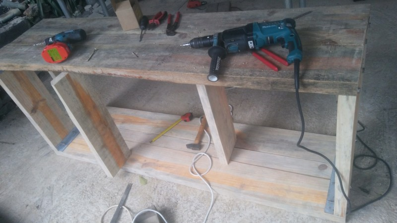 Fabrication d'un meuble pour un bac de 480lt 20190614