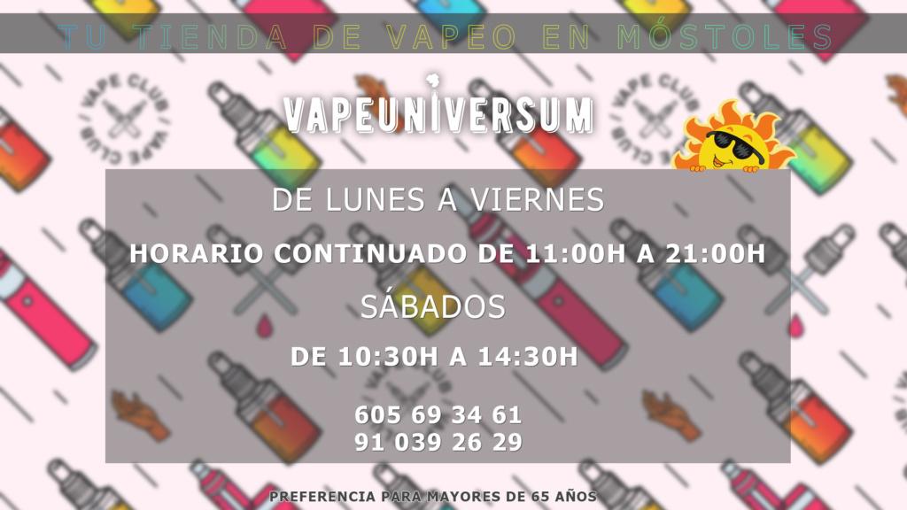 VapeUniversum (OFERTAS, NOVEDADES & DESCUENTOS) Horari10