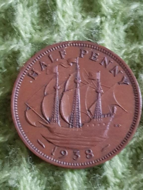 Half penny. Años 1938, 1939 y 1942 para que opineis sobre ellas 20191134