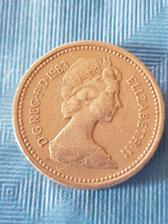 One pound 1983. Reino unido. 20191157