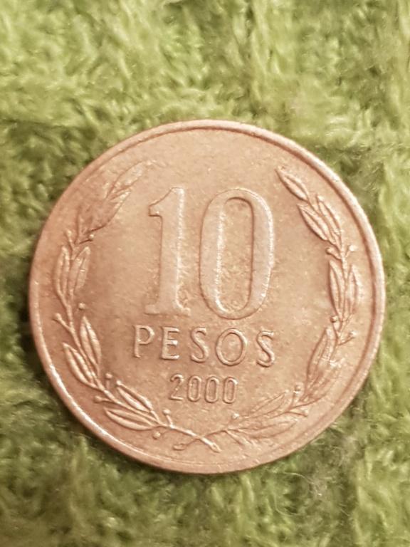 10 pesos Chile.Monedas años 2000 y 2005 20191161