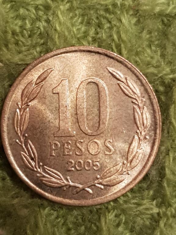 10 pesos Chile.Monedas años 2000 y 2005 20191164
