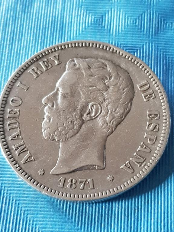 5 pesetas 1871 (*18-71). Amadeo I 20191173
