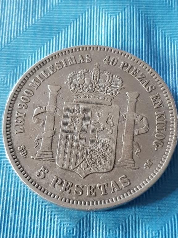 5 pesetas 1871 (*18-71). Amadeo I 20191174