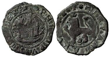2 maravedís de Felipe II de Cuenca. Ochavo10