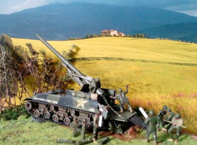 FIRE !!! -- M40 GMC 155 mm. Long Tom - Revell 1/72 01-03-11