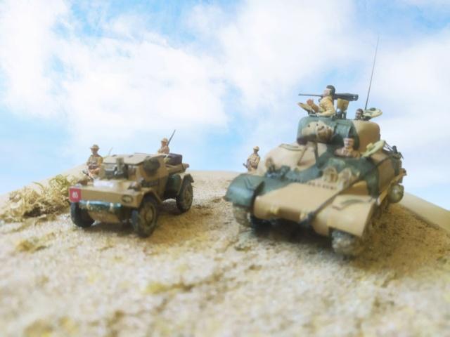 Benghazi Noel 1942 . Sherman et Dingo  1/72 06-03-12