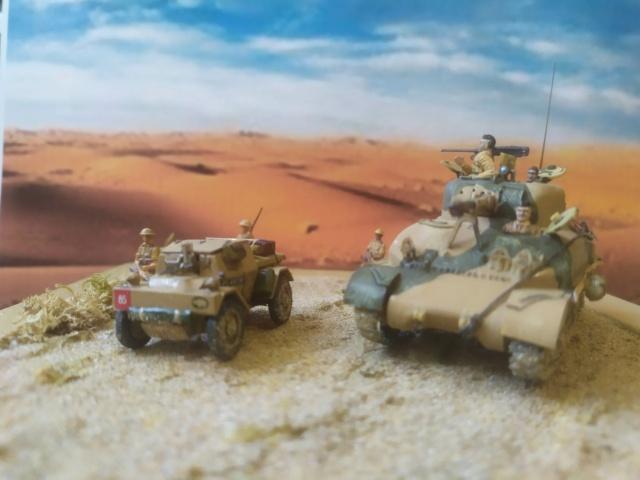 Benghazi Noel 1942 . Sherman et Dingo  1/72 06-03-13