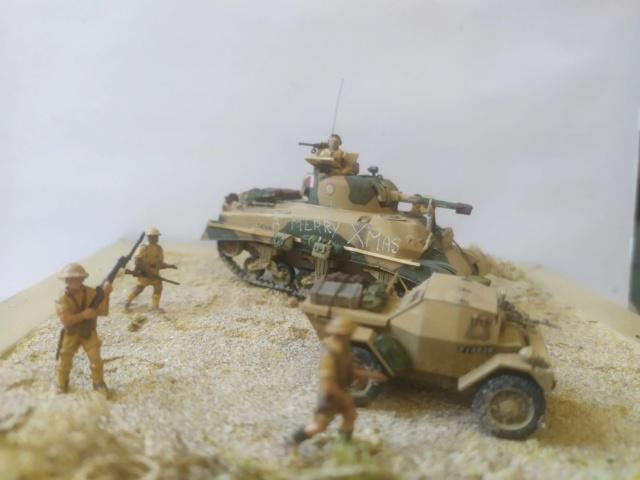 Benghazi Noel 1942 . Sherman et Dingo  1/72 06-03-15