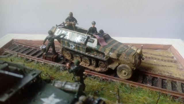 83ème Division d'Iinfanterie US - The Ragtag Circus - Sd.Kfz. 251 & Halftrack M3 - 1/72 19-06-11