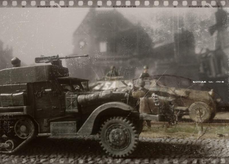 83ème Division d'Iinfanterie US - The Ragtag Circus - Sd.Kfz. 251 & Halftrack M3 - 1/72 25-06-10