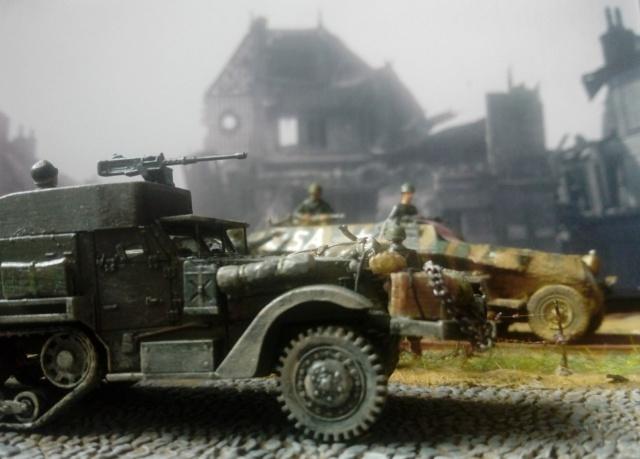 83ème Division d'Iinfanterie US - The Ragtag Circus - Sd.Kfz. 251 & Halftrack M3 - 1/72 26-06-10