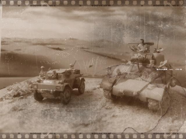 Benghazi Noel 1942 . Sherman et Dingo  1/72 Bengha10
