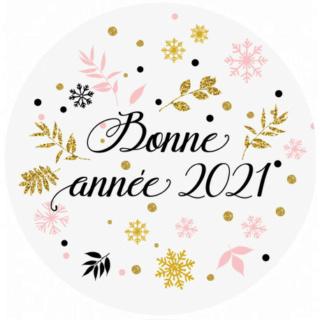 Bonne et heureuse année 2021. Sticke11
