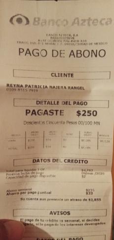 Deuda banco azteca 20200311