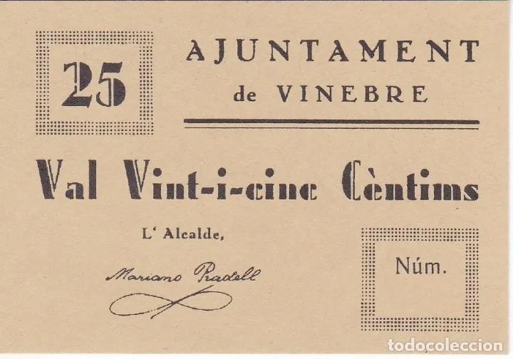 25 Céntimos Vinebre, 1937  17593710
