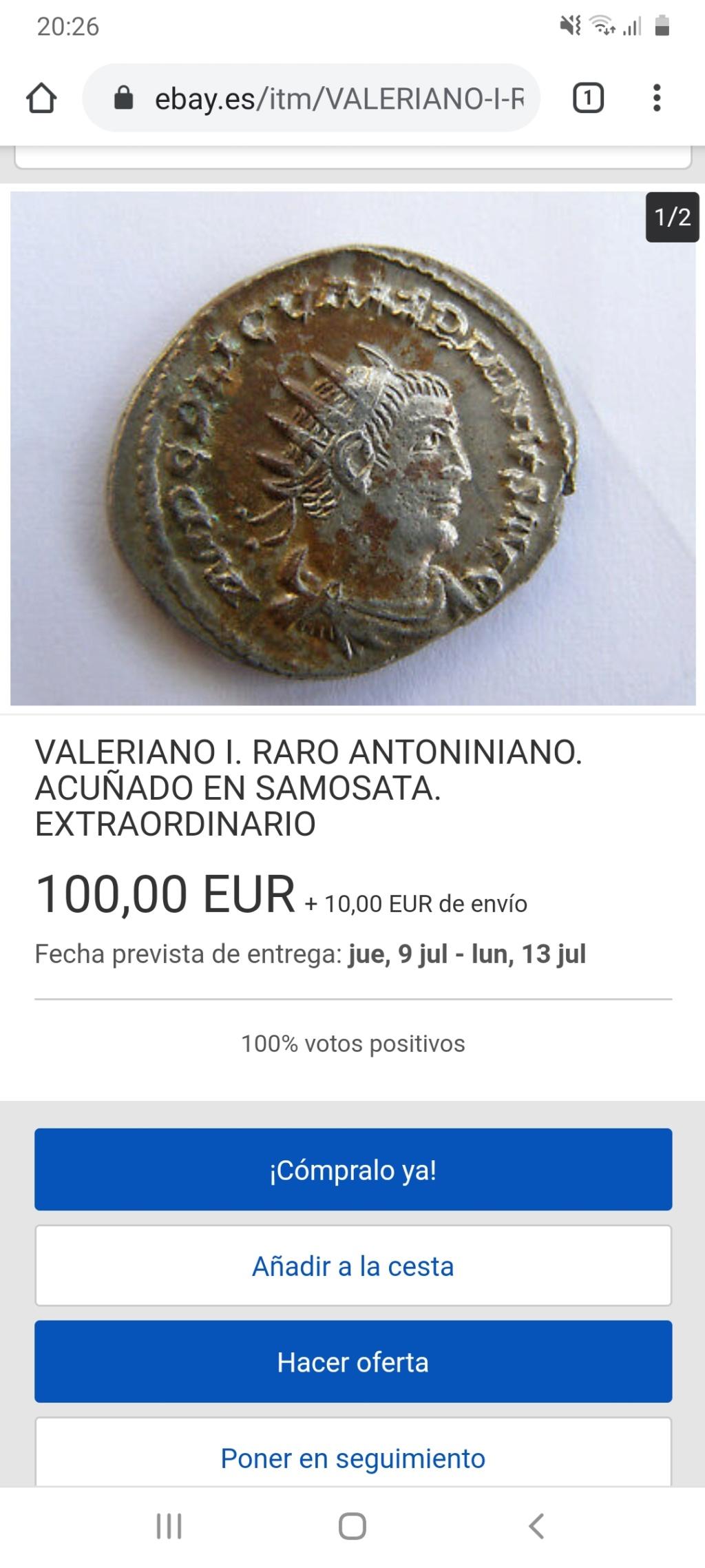 Antoniniano de Valeriano I. Screen12