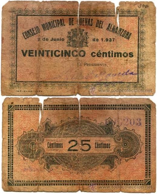 25 Céntimos Cuevas de Almanzora, 1937 Vera10