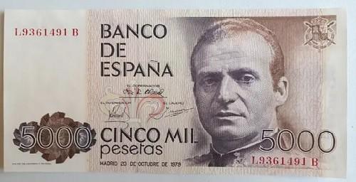 5000 pesetas 1979 serie L-B  50118210