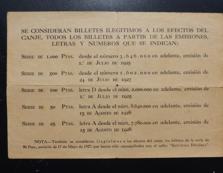 Documento canje billetes guerra civil Docume13