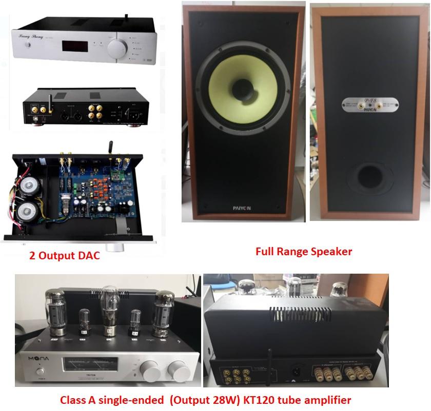HiFi Set Tube Amp, Full Range Speaker and DAC Tube Output & AK4497EQ Output (Sold) Tube_a10