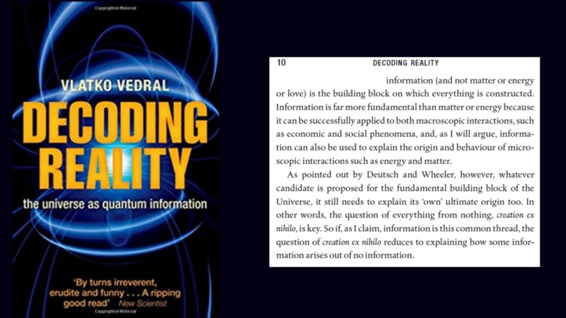 Decoding reality - Information is fundamental  0a10