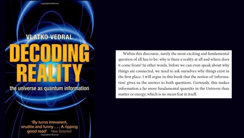 Decoding reality - Information is fundamental  0b10