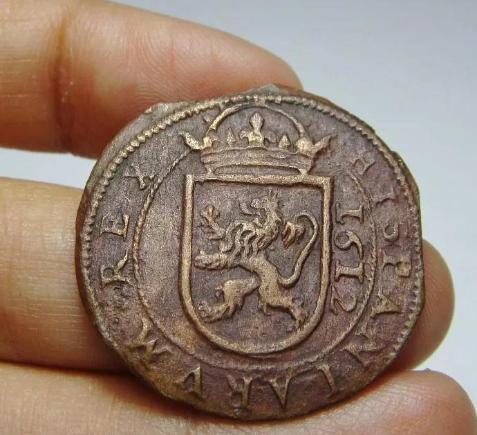 Autenticidad 8 Maravedís Felipe III de Segovia, 1612. Marave12