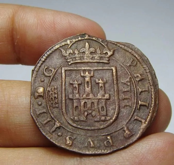Autenticidad 8 Maravedís Felipe III de Segovia, 1612. Marave13