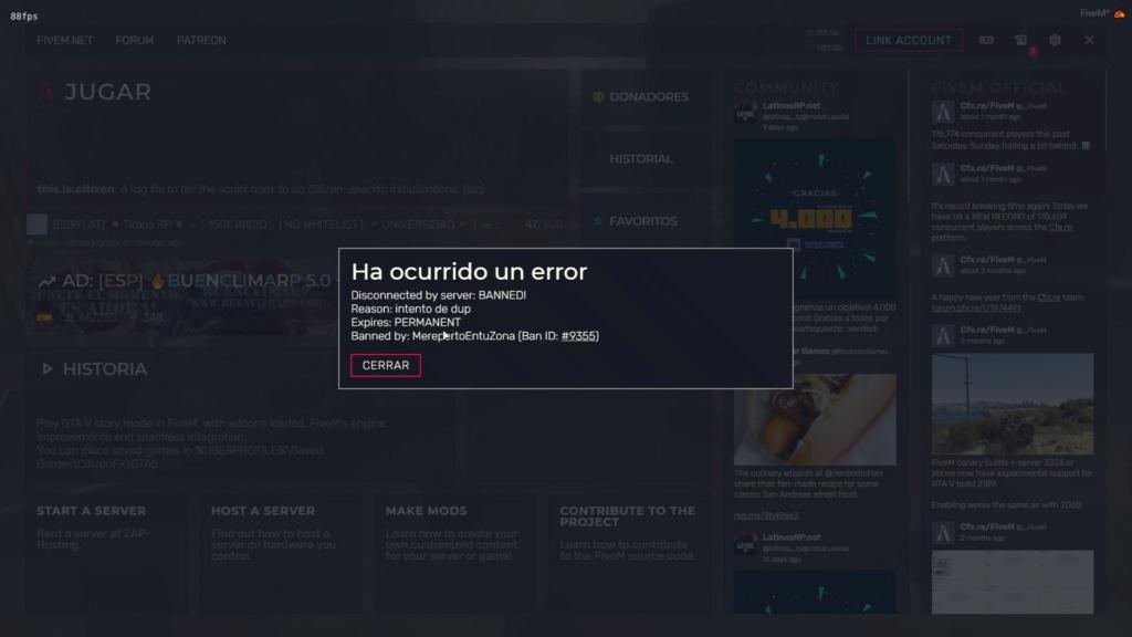PERMA BAN POR DUPLICAR ARMAS SIN HACERLO Banned11