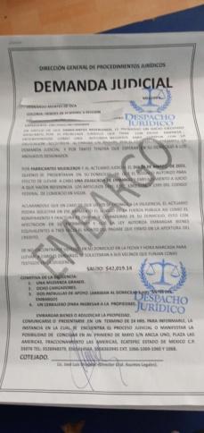 Demanda judicial por parte de famsa 16158810