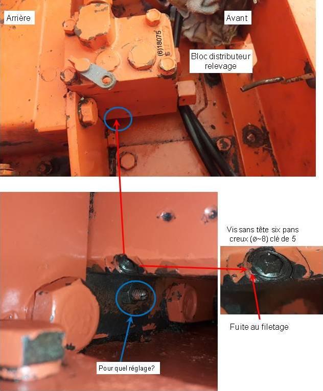 Fuite distributeur hydraulique  relevage Renault 461 Fuite_11