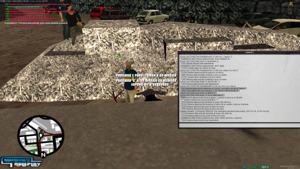 Reporte Carlos Dannunzio; Revenge kill + MG + NRA + NRE  Mta-sc32