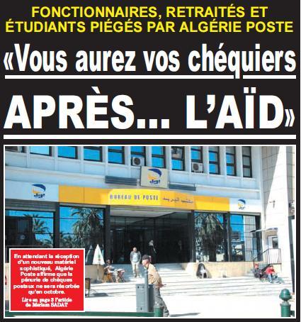 Algérie Poste: «Vous aurez vos chéquiers après...l'Aïd» Sans_t10