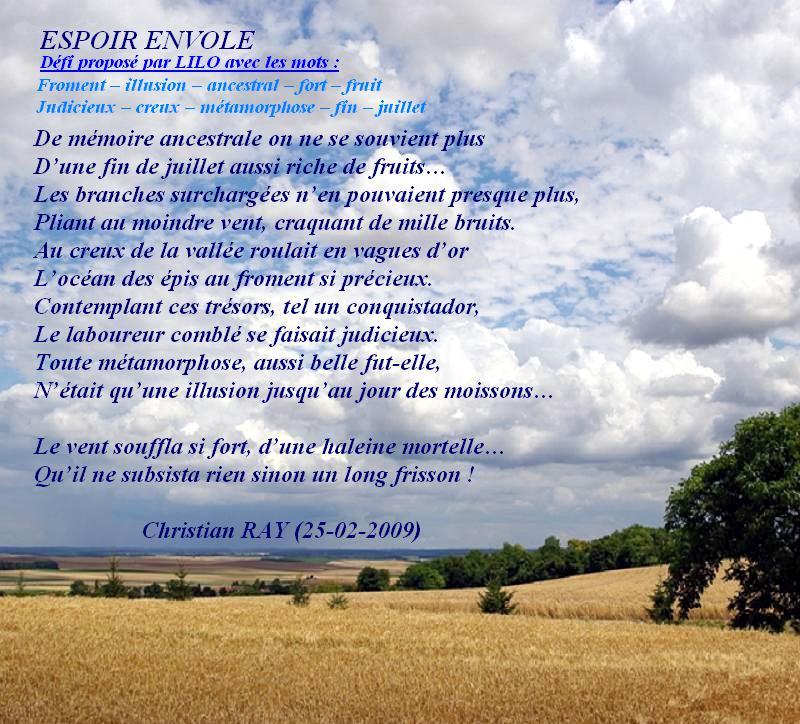 """"""" ESPOIR ENVOLE """" (Défi proposé par Lilo) Espoir11"""