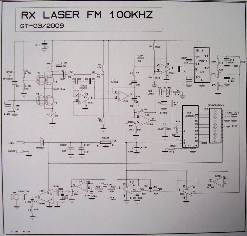 TX-RX Laser FM 100 Khz Rx112