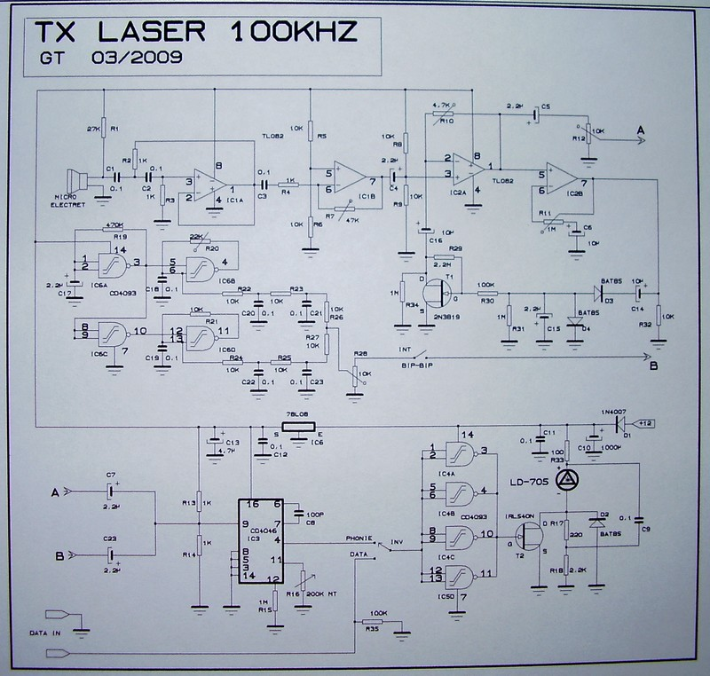 TX-RX Laser FM 100 Khz Tx111