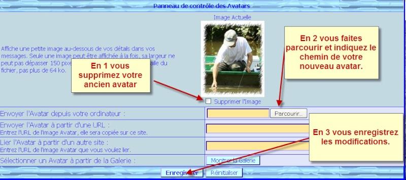 Suite à des demandes,comment insérer un nouvel avatar Avatar10