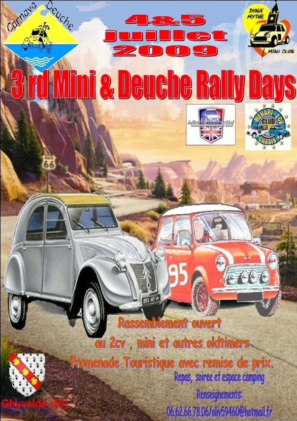 3rd Mini & Deuche Rally Days 4 & 5 Juillet Affich10