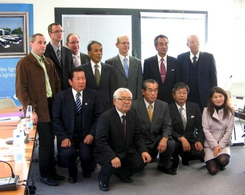 Délégation Japonaise en visite à Caen. Dalaga11