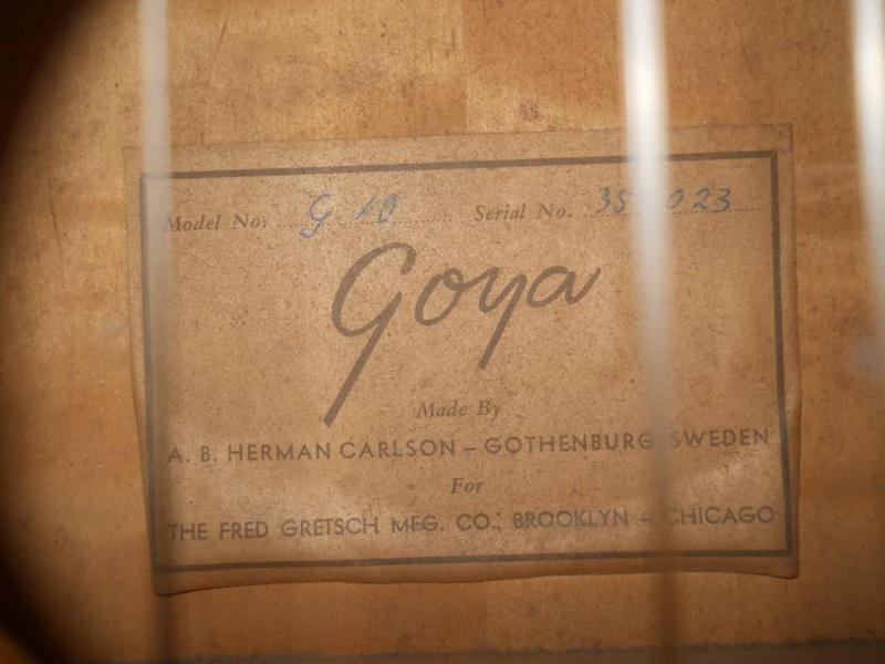 GOYA  G.20   G.10  G.15  (for Gretsch)  1956 1957_g12