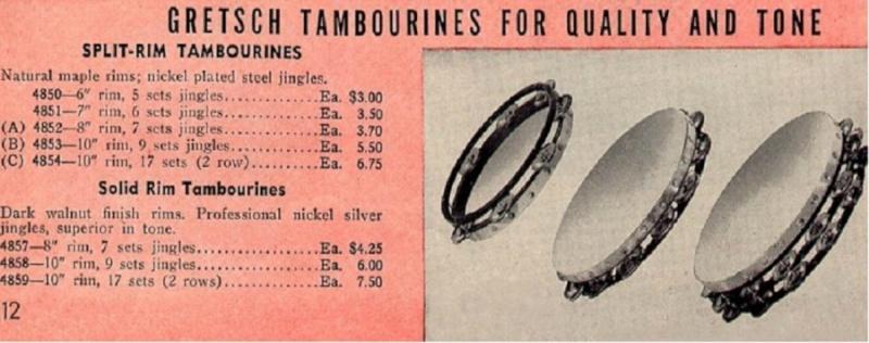 GRETSCH TAMBOURINE 1930's - 1940's. Ssssss11