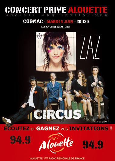 Circus en concert avec radio Alouette à Cognac (04/06/2013) Concer10