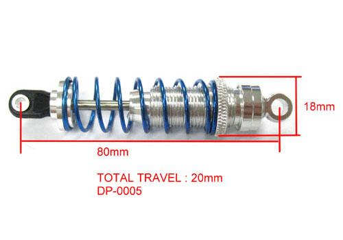 Combinés filtés 3YeahRacing 80mm Pajero Tamiya Yrac_d10
