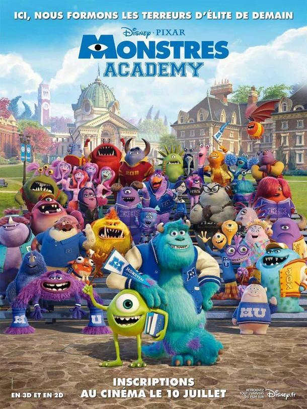 MONSTRES ACADEMY - Disney/Pixar - FR : 10 Juillet 2013 Monstr10