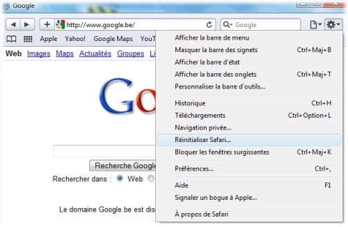 Come pulire la cache del browser S110